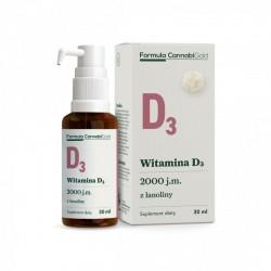 Witamina D3 z lanoliny 2000 j.m w oleju konopnym 30ml Formula Cannabigold cholekalcyferol