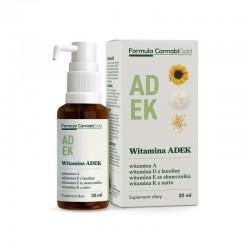 Witamina ADEK w oleju konopnym 30ml Formula CannabiGold D-alfa-tokoferol palmitynian retinylu menachinon-7 cholekalcyferol