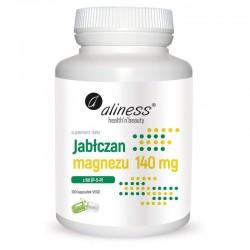 Jabłczan magnezu 140 mg z B6 (P-5-P) 100 kaps. Aliness pirydoksalo-5-fosforan