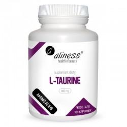 L-Taurine 800mg 100 kaps. Aliness L-tauryna kwas 2-aminoetylosulfonowy