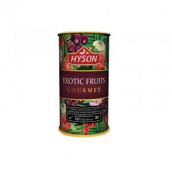 Herbata czarna z dodatkiem suszonych owoców egzotycznych 100g Hyson Exotic Fruits z hibiskusem truskawką