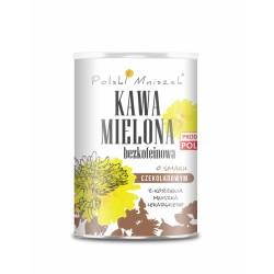 Kawa mielona bezkofeinowa o smaku czekoladowym z korzenia mniszka lekarskiego 150g Polski Mniszek
