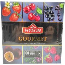 Herbata czarna Gourmet kolekcja 60 torebek Hyson dzika truskawka wiśnia czarna porzeczka marakuja miętowy tymianek malina