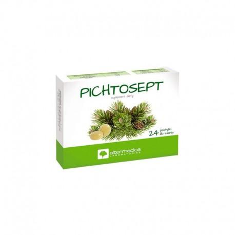 Pichtosept Pastylki do ssania z olejkiem pichtowym dla dorosłych Pichtosept