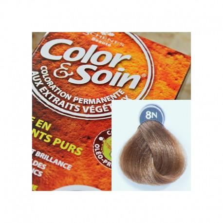 Trwała farba Color & Soin blond pszeniczny 8N