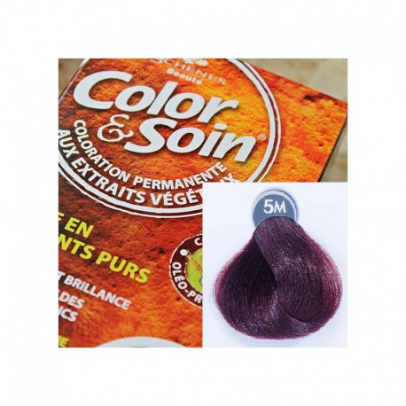 Trwała farba Color & Soin mahoniowy jasny kasztan 5M