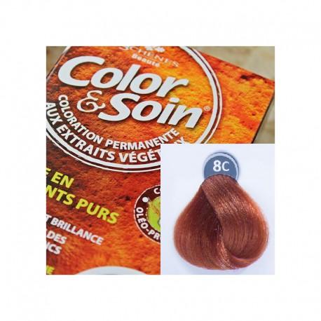 Trwała farba Color & Soin miedziany blond 8C